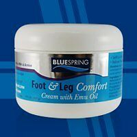 Foot & Leg Comfort Cream with Emu Oil (8 Oz) Reduces Swelling by Blue Spring