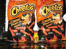 2 Bags of Xxtra Flamin' Hot Cheetos 9 oz & 1 Bottle Habanero Hot Sauce From Hell