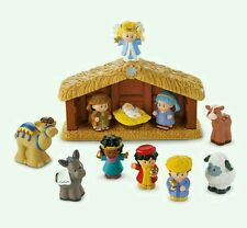 Fisher Price Little People Nativity Set di un popolo di Natale NUOVO con scatola Little