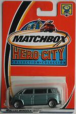 Matchbox – VW microbus Hell metalizado azul 2 de colores nuevo/en el embalaje original us-Card