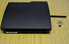 Negro Completo Carcasa Shell Funda para Playstation 3 PS3 Slim Cech - 2503A/B