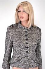 NEW KAREN MILLEN JP017 $380 WOOL BLEND TWEED PEPLUM MILITARY JACKET~ 10 14 42