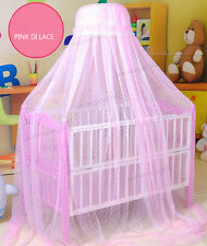 Baby Infant Toddler Canopy Crib Cradle Bed Mosquito Net Tent Pink