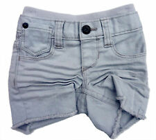 Baby GAP Boys GREY Denim Creased Worn Cutoff Shorts Jeans 0-3m £12.95