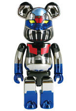 Medicom BE@RBRICK Super Alloyed Plated Chrome 200% Mazinger Z Bearbrick MISB