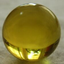 Ref.# 754- Dominican Green Amber natural round sphere bead 13.4 mm( 1.4 g)