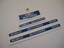 Corgi Toys 413 Smith's Karrier Van Mobile Butchers stickers - B2G1F