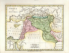 SYRIA ET ASSYRIA - ARABIA DESERTA - AND NOW IRAQ, IRAN, JORDAN - RARE MAP (1815)