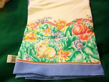 """Tablecloth - White w/Easter Designs - Cotton - Made in Brazil - 61"""" x 103"""""""