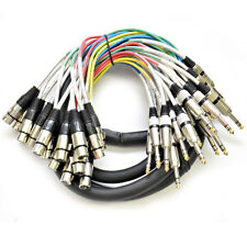 """Seismic Audio 16 Channel 10' XLR Female to 1/4"""" TRS Audio SNAKE CABLE"""
