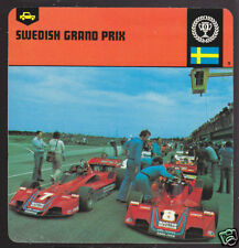SWEDISH GRAND PRIX Sweden Car Race Circuit HISTORY CARD