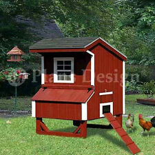 5'x4' Saltbox Style Small Chicken Poultry Coop Plans, 90504S (Free Chicken Run)