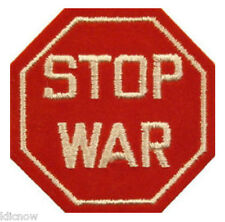 """STOP WAR EMBROIDERED PATCH 5CM X 5.CM (2"""" X 2"""")"""