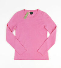 NWT J Crew cashmere long-sleeve T-shirt Size S Neon Orchid FA15 $198 E2054