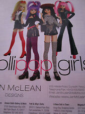 Jan McLean Doll Ad LOLLIPOP GIRLS 4 Models  / Advertisement ONLY