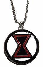 "Marvel Comics BLACK WIDOW Logo Pendant Necklace with 20"" Chain"