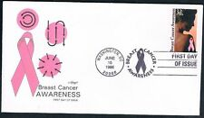 1996 Breast Cancer Awareness First Day Cover FDC Sc 3081 Washington DC Artmaster