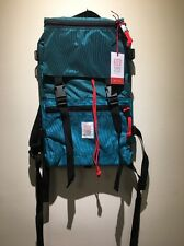 New! Topo Designs Rover Backpack Bag. Pack. Made In USA. Turquoise Cordura