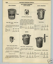 1927 PAPER AD 3 PG White Mountain Ice Cream Freezer Maker Parts Repair List