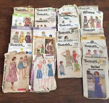 Lot of 22 Vintage Sewing Patterns  Butterick Simplicity
