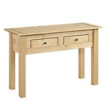 Rio Solid Pine 2 Drawer Console Table COR029