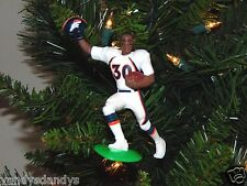 terrell DAVIS denver BRONCOS football NFL tree XMAS ornament HOLIDAY jersey vtg