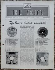 India THE VOICE September 1962 HMV Magazine - MANNA DEY