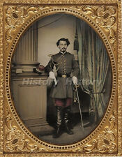 CIVIL WAR PHOTOGRAPH Unidentified soldier in Confederate officer's uniform