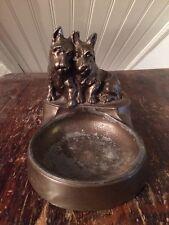 Nu-Art Scottish Terrier Spelter Bronze Ashtray Scotties 1920s Vtg 1930s Art Deco