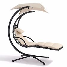 LUXURY SWINGING SUN LOUNGER HANGING CHAIR WITH CANOPY JARDER GARDEN PATIO