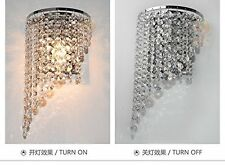 Modern Clear Sun Flower Wall light K9 Crystal For Bedroom Aisle Hallway Lamp E14