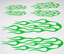 FLAME KIT CAR TRUCK AUTO VINYL DECAL STICKERS LIME GREEN SET OF 3 NEW