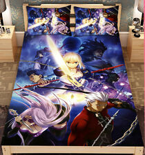150*200cm Fate Anime bedspread Saber Lolita Bed Sheet Blanket Cosplay Gift