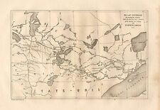 Winnipeg, Lake Superior, Minnesota / Canada, Vintage 1878 French Antique Map