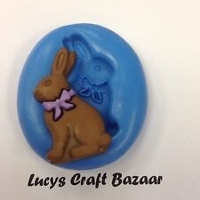 Silicone Mould Spring Easter Bunny Rabbit 5 Sugarcraft Cupcake Topper Chocolate