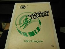 1979 AHL HOCKEY PROGRAM BALTIMORE CLIPPERS VERY RARE VINTAGE CONDITION