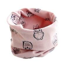 Toddler Boy Girls Scarves Cotton Owl Stars O Ring Neck Wraps Neckerchief Shawl