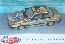 White Rose Collectibles 1:43 FORD MUSTANG 1986 POLICE Gold Plated Model Car MIB!