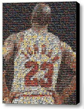 Framed Michael Jordan Jersey Card Mosaic 9X11 Limited Edition Art Print w/COA