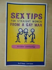 2014 - 777 Theatre Playbill - Sex Tips For Straight Women From A Gay Man