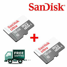 SanDisk 16GB Ultra MicroSD SDHC Micro SD Memory Card 48MB/s (Combo Of 2)