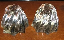 2 Baccarat Oreste Candle Holders - chips