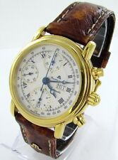 Maurice Lacroix Croneo Officer's Day Date Chronographe Montre Pour Homme Cuir