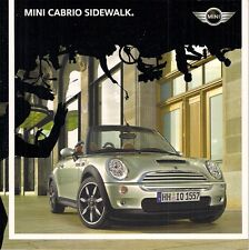 Mini Cabriolet Sidewalk Limited Edition 2007 German Market Brochure One Cooper S