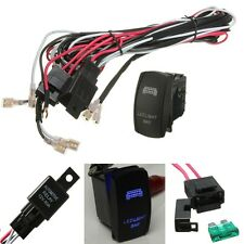 New 12V Wiring kit Includes 40A Relay + LED Spotlights Work Fog light Bar Switch