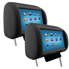 2pcs 9'' Digital TFT LED Full Touch Screen Screen Pillow Headrest Car DVD Player