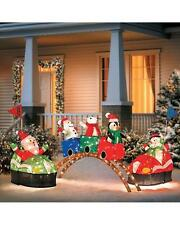 Lighted Pre Lit Animated Santa Claus Carnival Rides Display Outdoor Christmas