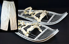 Magline Snowshoes Military Army Magnesium White  w/ Bindings and Snow Pants NEW