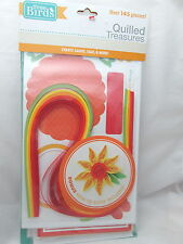 Three Birds Card Quilling Kit & How to Book - Red, Green, Yellow & Orange