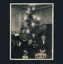 CHRISTMAS TREE FAMILY Toys WEIHNACHTEN Spielzeug * Vintage German Photo 1929